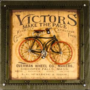 κάδρο με μεταλλικό ποδήλατο