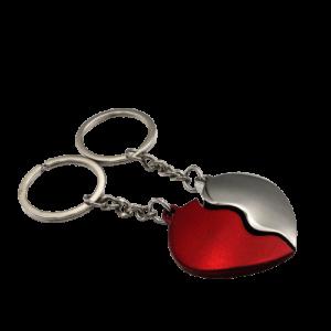διπλή καρδιά κόκκινη