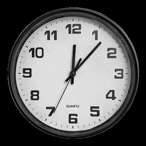 Ρολόι τοίχου μαύρο