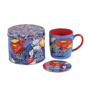 Superman με σουβέρ μεταλλικό κουτί
